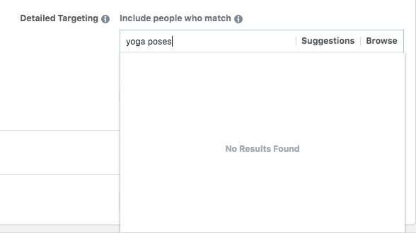 pesquisa de interesses anúncios facebook